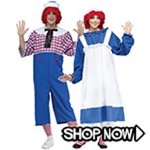 Picture for category Raggedy Ann and Andy Couple Costumes