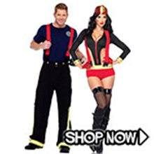 Picture for category Firefighter Couple Costumes