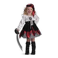 Picture of Petite Pirate Deluxe Toddler Costume