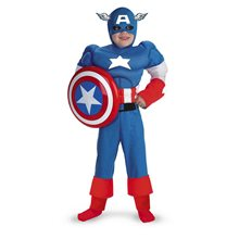 Picture of Marvel Captain America Classic Muscle Child Costume