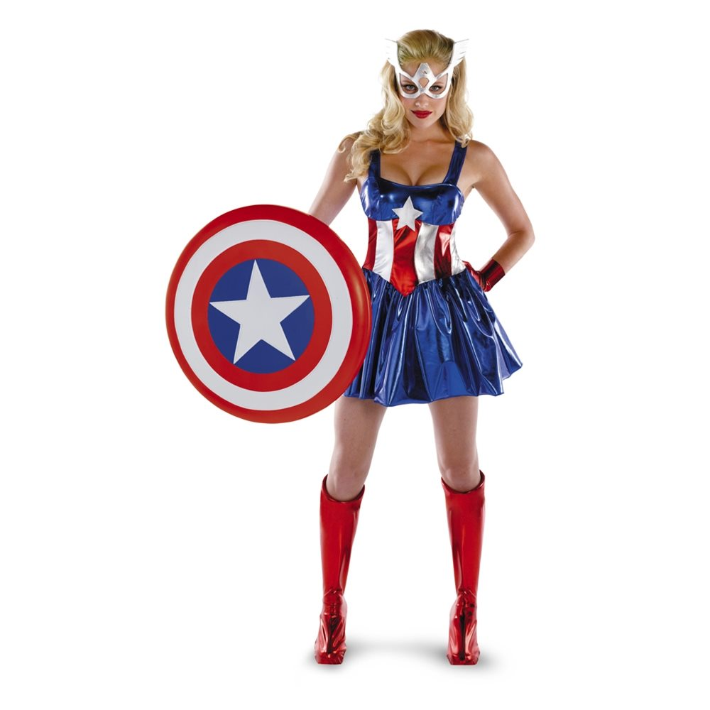 Picture of Marvel Captain America Deluxe Adult Womens Costume