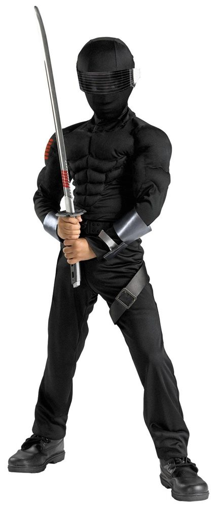 Picture of G.I. Joe Movie: The Rise of Cobra Snake Eyes Classic Muscle Child Costume