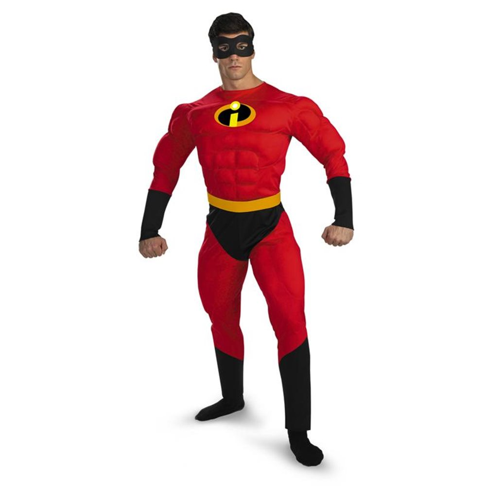 Picture of Mr. Incredible Deluxe Muscle Adult Mens Costume