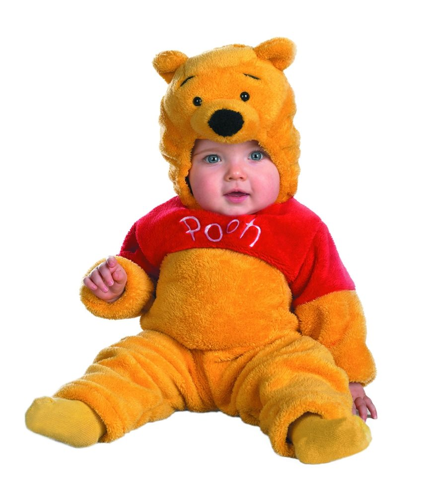 Picture of Winnie The Pooh Deluxe Two-Sided Plush Jumpsuit Infant Costume