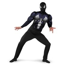 Picture of Black-Suited Spider-Man Classic Muscle Adult Costume