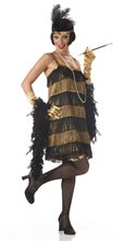 Picture of Jazz Honey Black Gold Adult Womens Costume