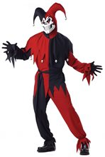 Picture of Evil Jester Red & Black Adult Mens Costume