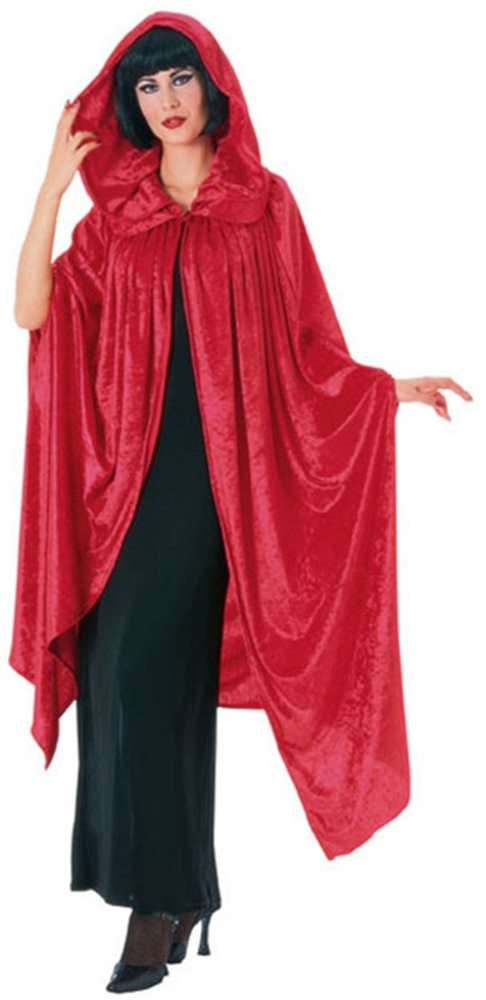Picture of Red Velvet Deluxe Gothic Cloak