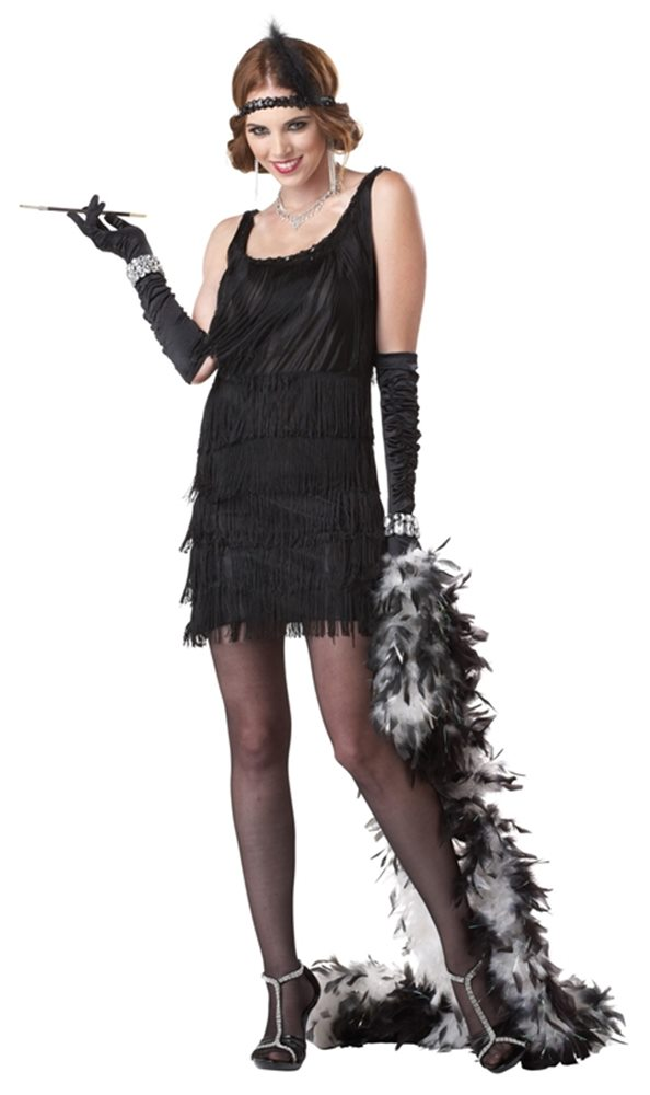 Picture of Black Fashion Flapper Adult Womens Costume