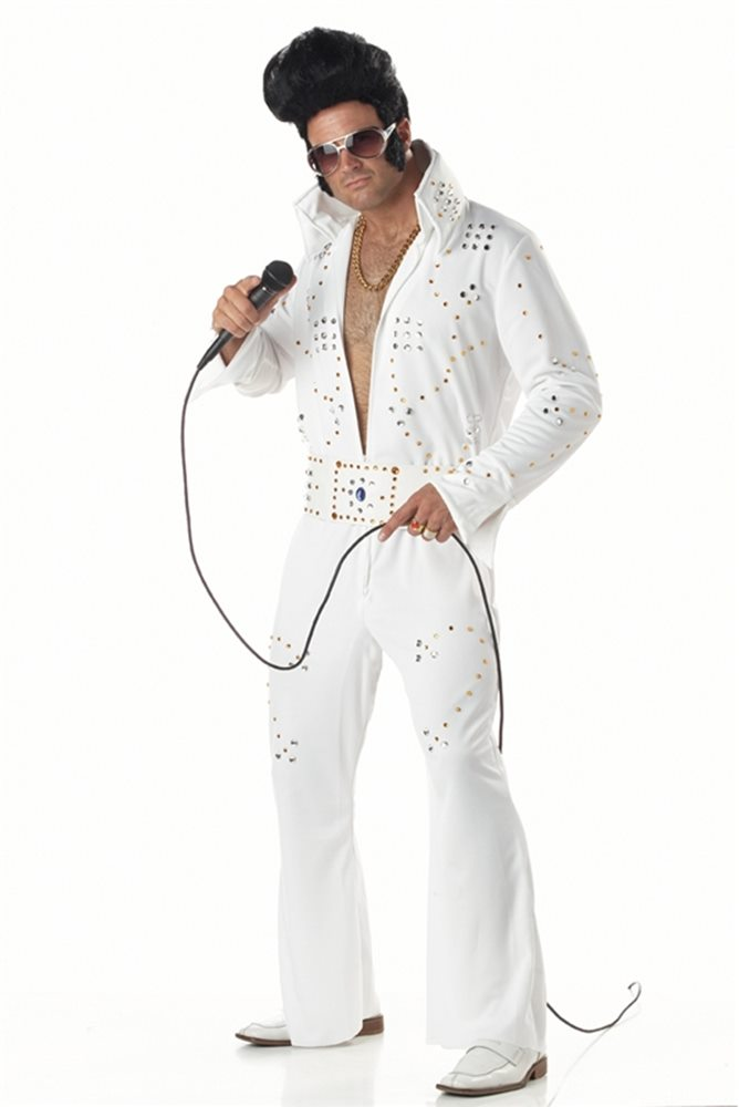 Picture of Rock Star Jeweled Elvis Adult Mens Costume