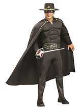 Picture of Zorro Deluxe Muscle Adult Mens Costume