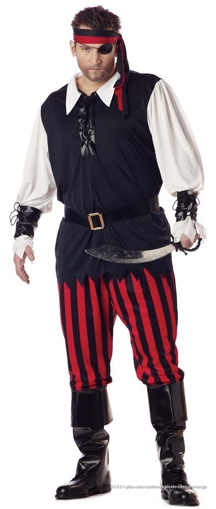Picture of Cutthroat Pirate Adult Mens Plus Size Costume