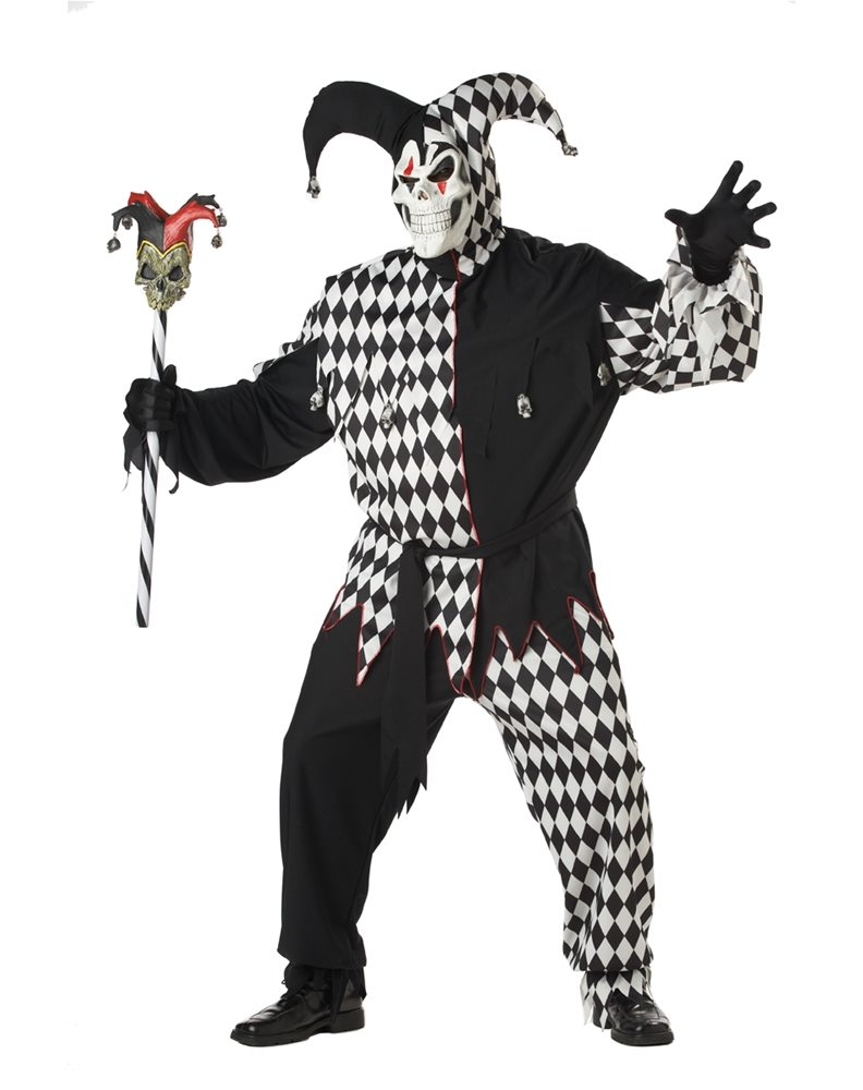 Picture of Evil Jester Plus Size Adult Mens Costume