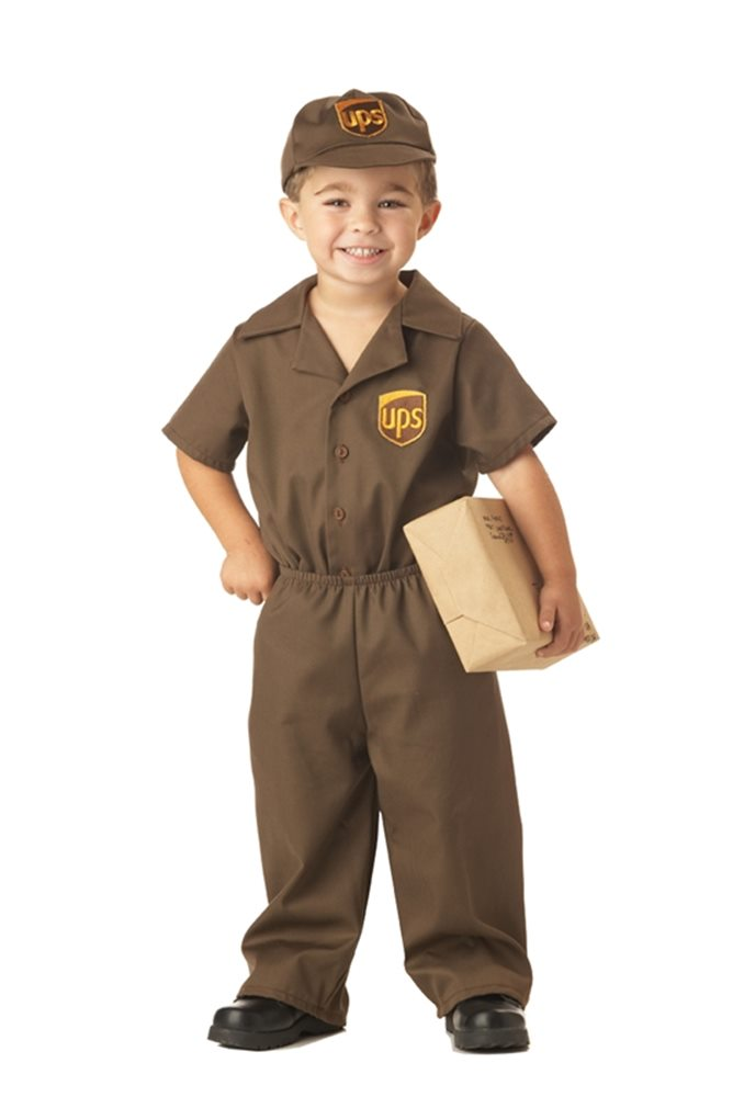 Picture of UPS Delivery Uniform Toddler Costume