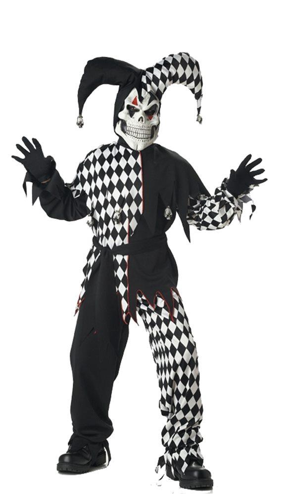 Picture of Evil Jester Black & White Child Costume