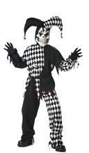 Picture of Evil Jester Black & White Child Costume