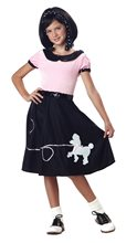 Picture of 50s Hop with Poodle Skirt Child Costume