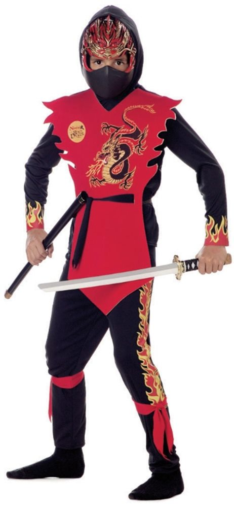 Picture of Ninja of the Black Dragon Child Costume