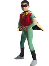 Picture of Deluxe Teen Titans Robin Muscle Chest Child Costume