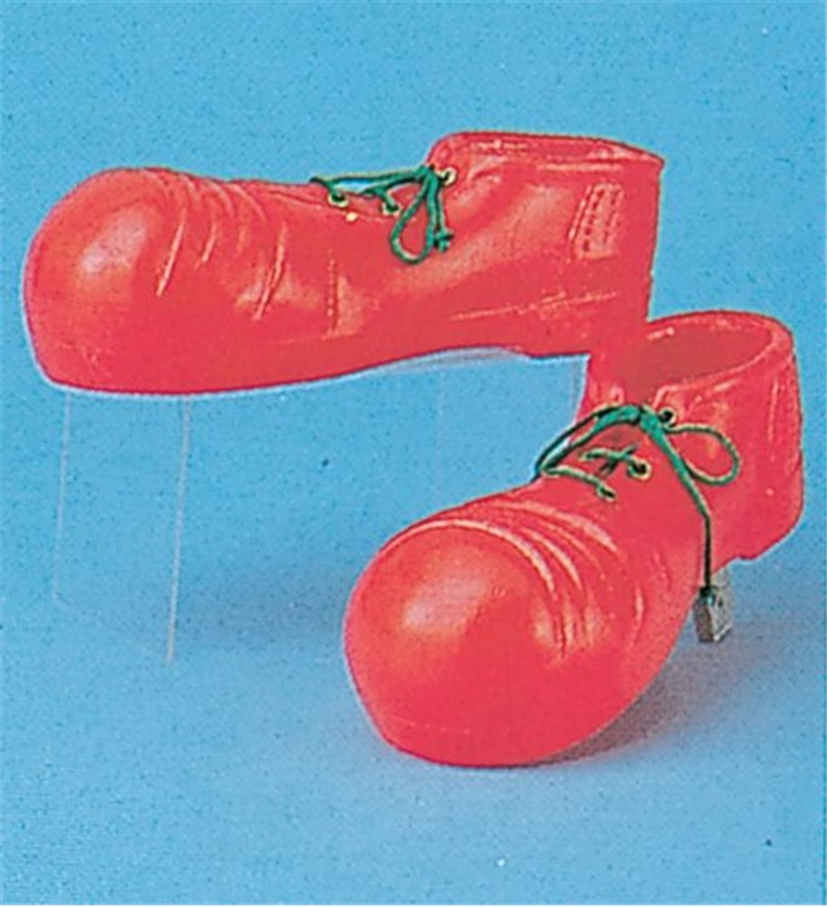 Picture of Plastic Clown Shoes Child Red