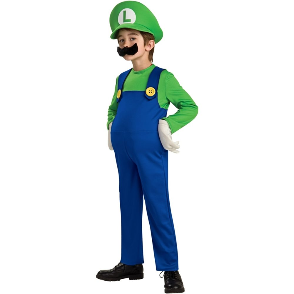 Picture of Deluxe Mario Brothers Luigi Child Costume