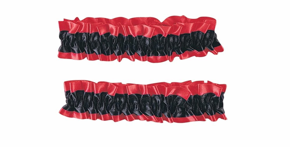 Picture of Garter Arm Band Red & Black