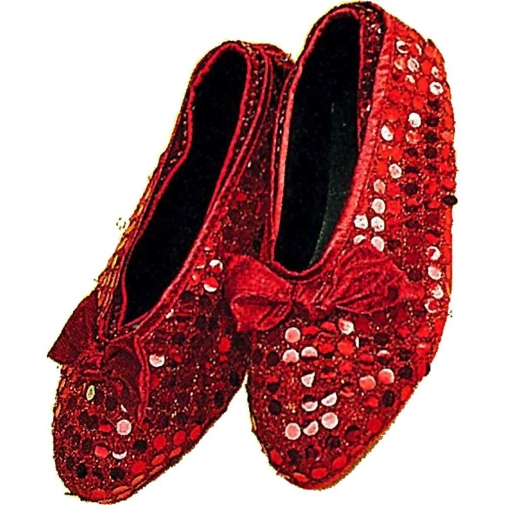 Picture of Red Sequin Shoe Cover Child