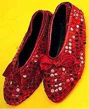 Picture of Red Sequin Shoe Cover Adult