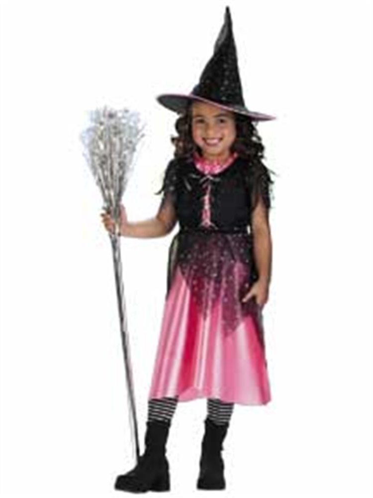 Picture of Pink Sparkle Witch Child Costume