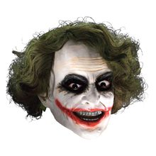 Picture of Joker Child Vinyl Mask with Hair