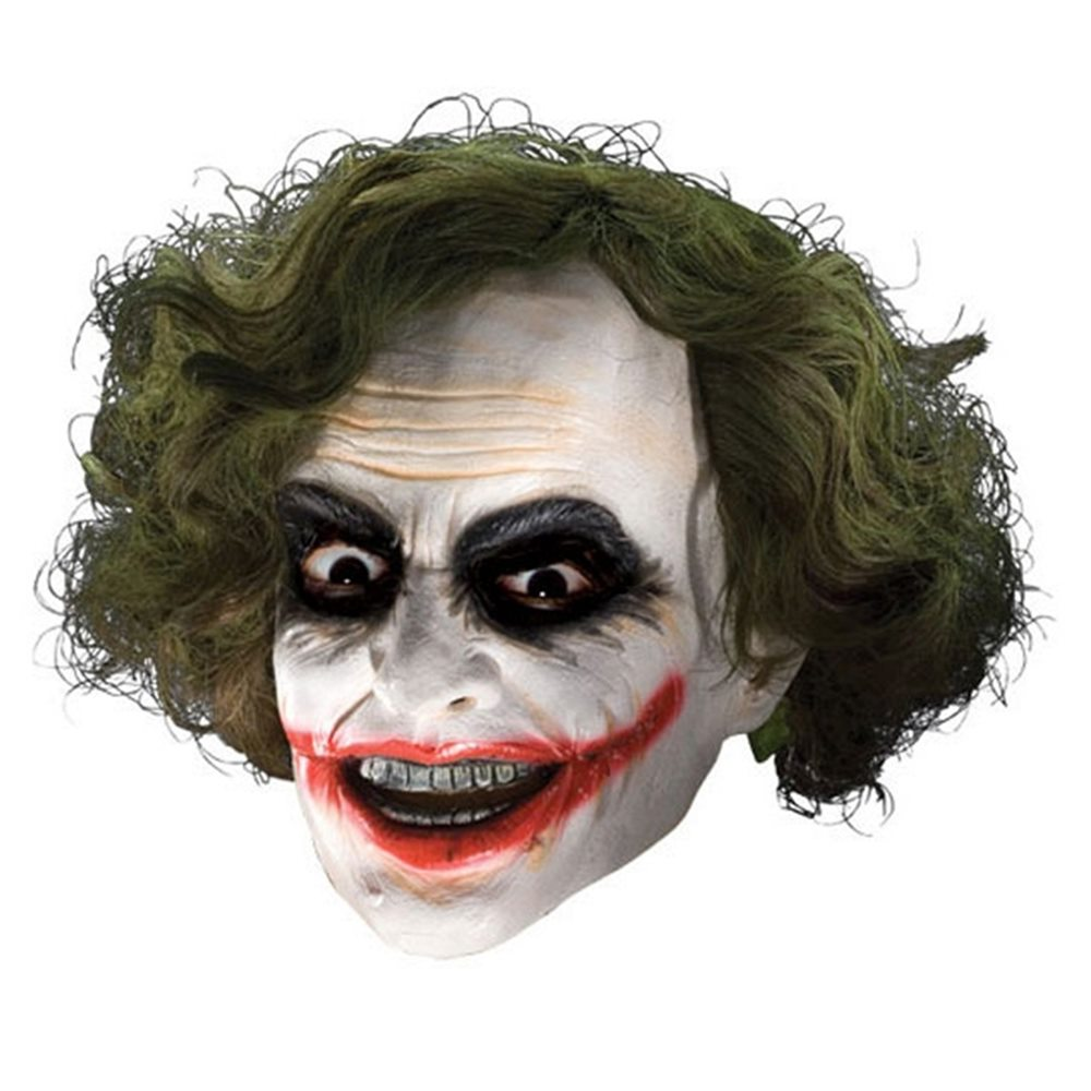 Picture of Joker Mask 3/4 Vinyl Mask with Hair