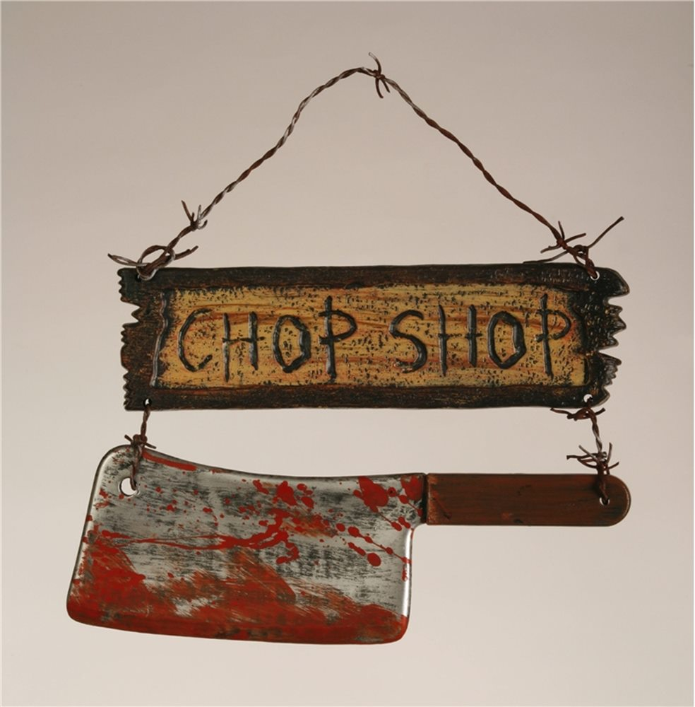 Picture of Chop Sign with Cleaver