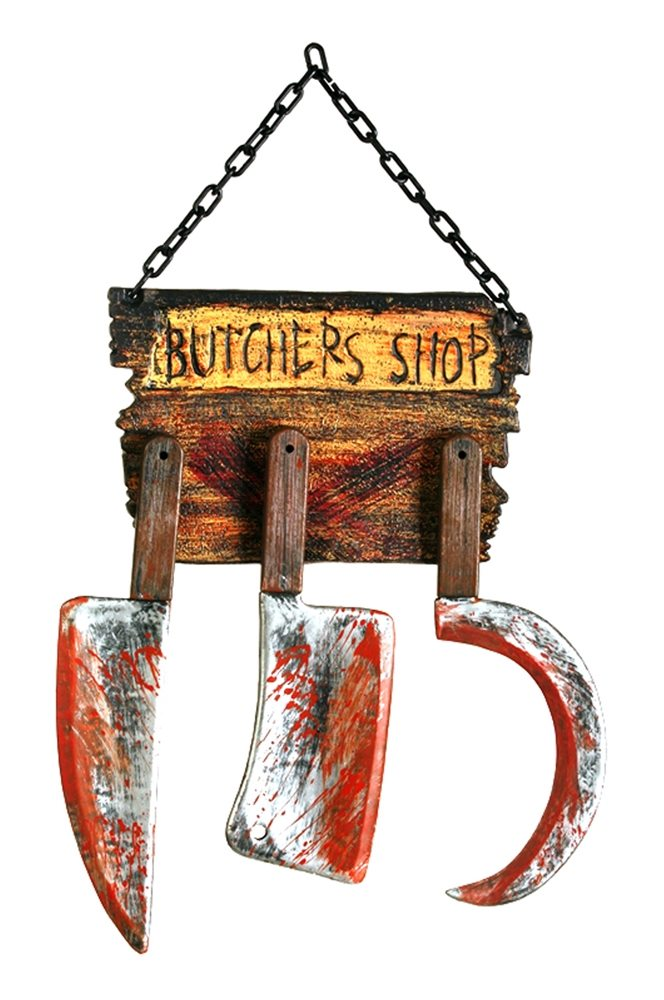 Picture of Butcher Shop Sign with Tools