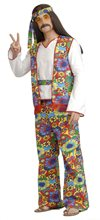 Picture of Hippie Dippie Plus Size Adult Mens Costume