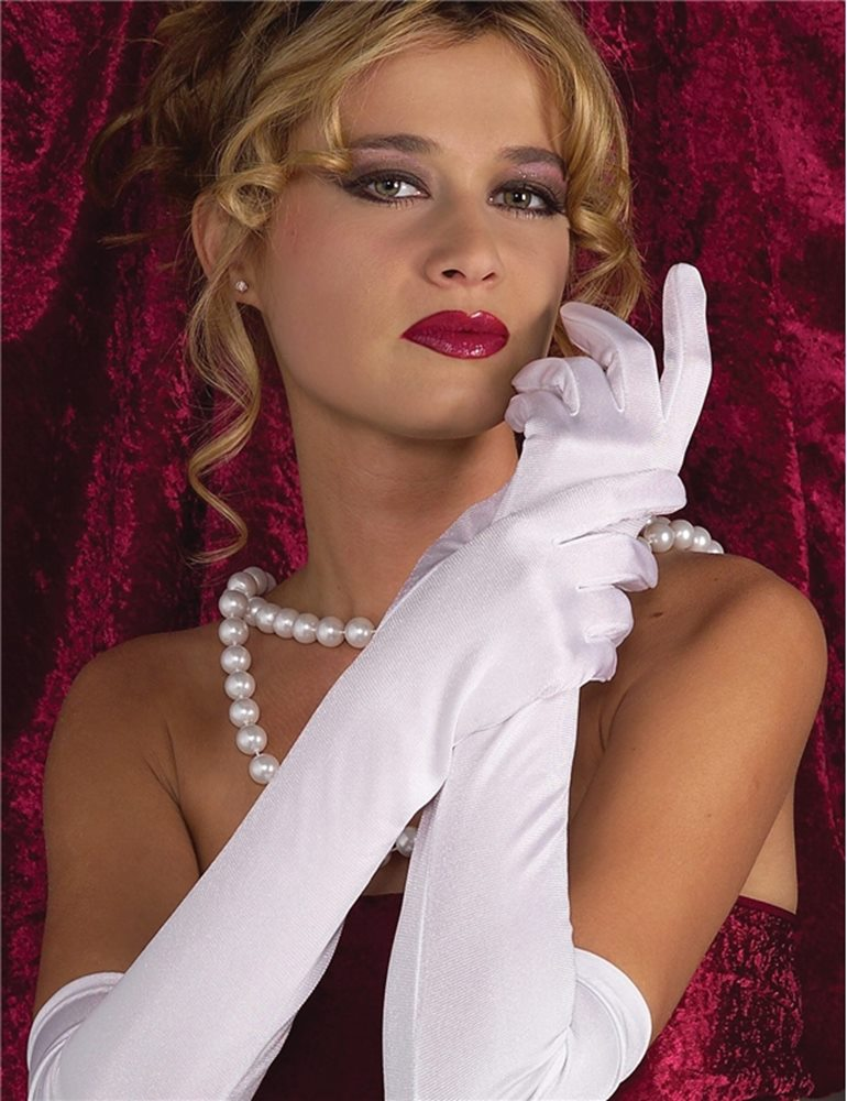 Picture of Ruched White Gloves