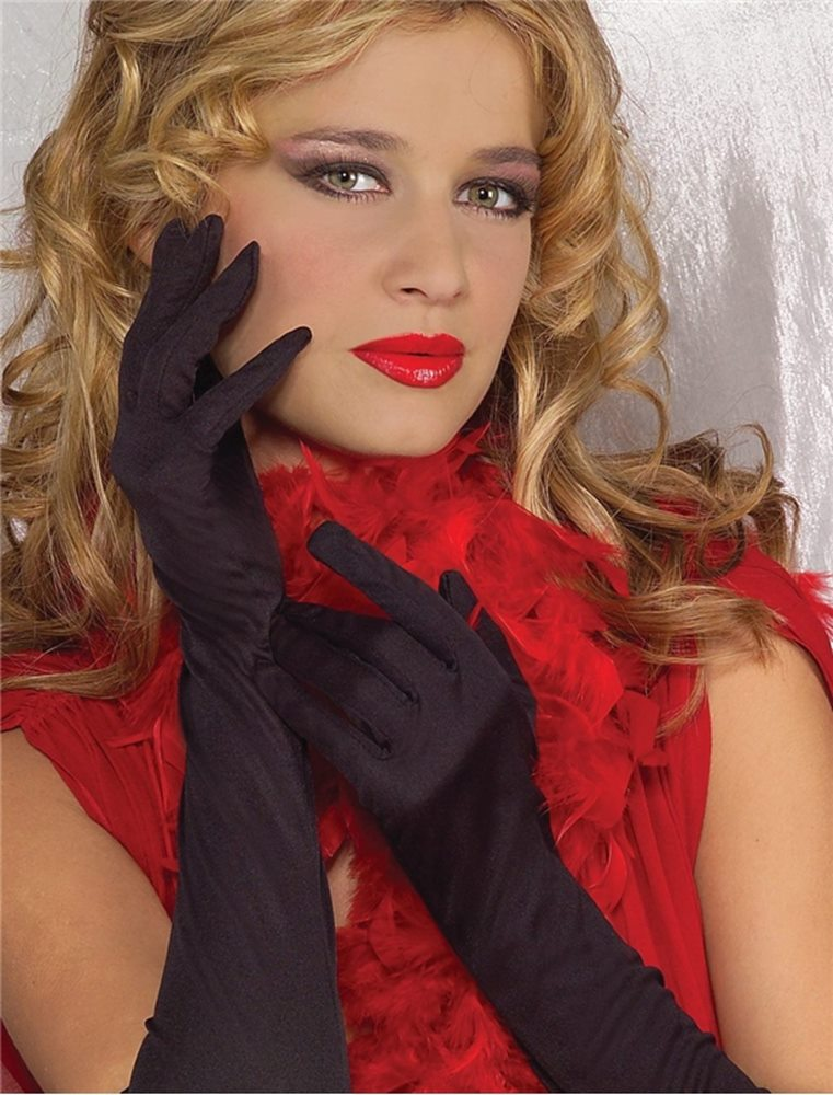Picture of Black Rouched Gloves 50cm