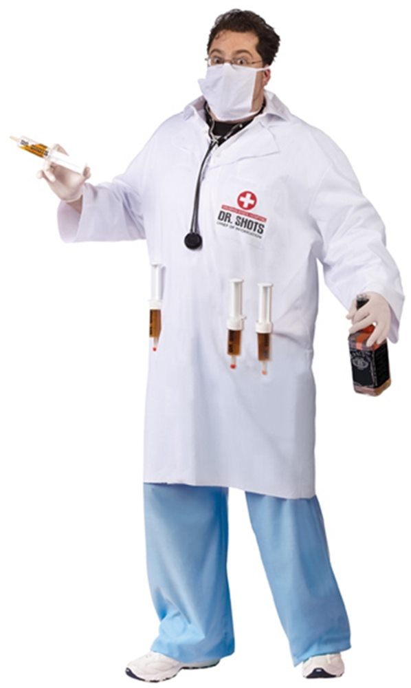 Picture of Dr. Shots Plus Size Adult Mens Costume