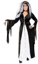 Picture of Bride of Darkness Adult Womens Plus Size Costume