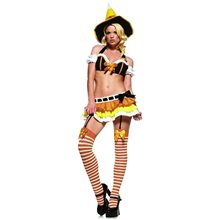 Picture of Sexy Kandy Korn 4pc Witch Adult Costume