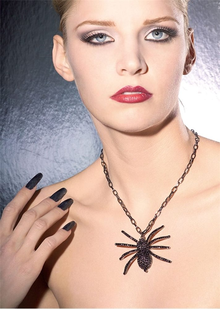 Picture of Black Spider Necklace
