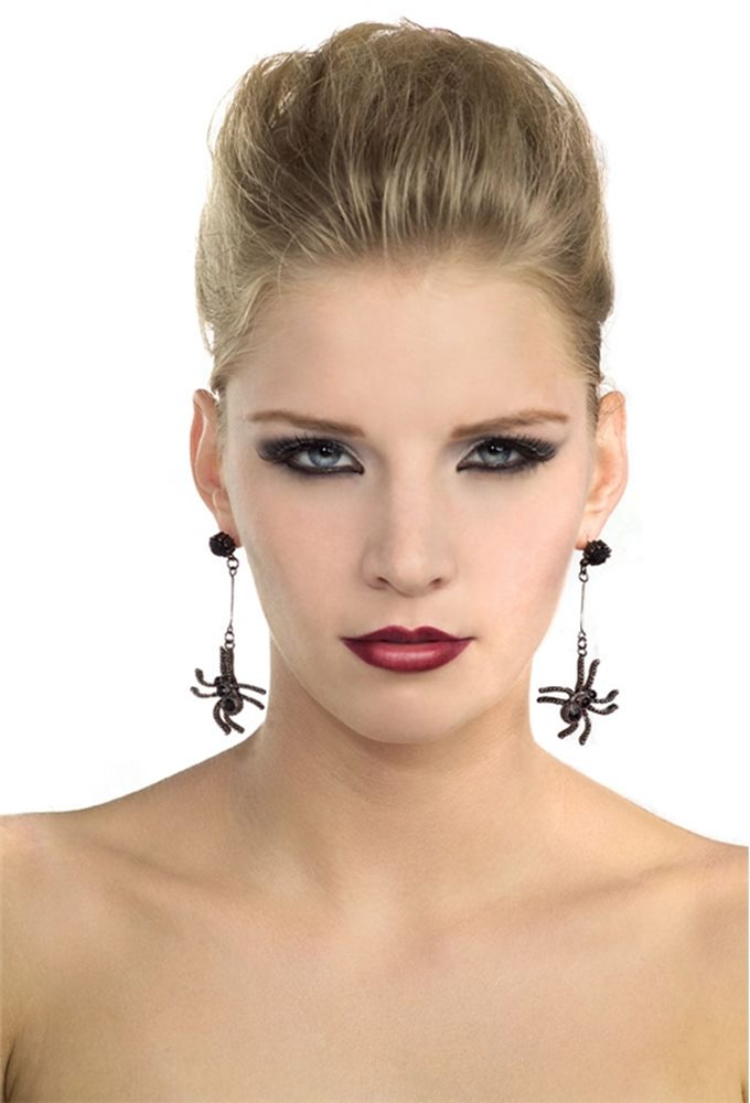 Picture of Black Spider Earrings