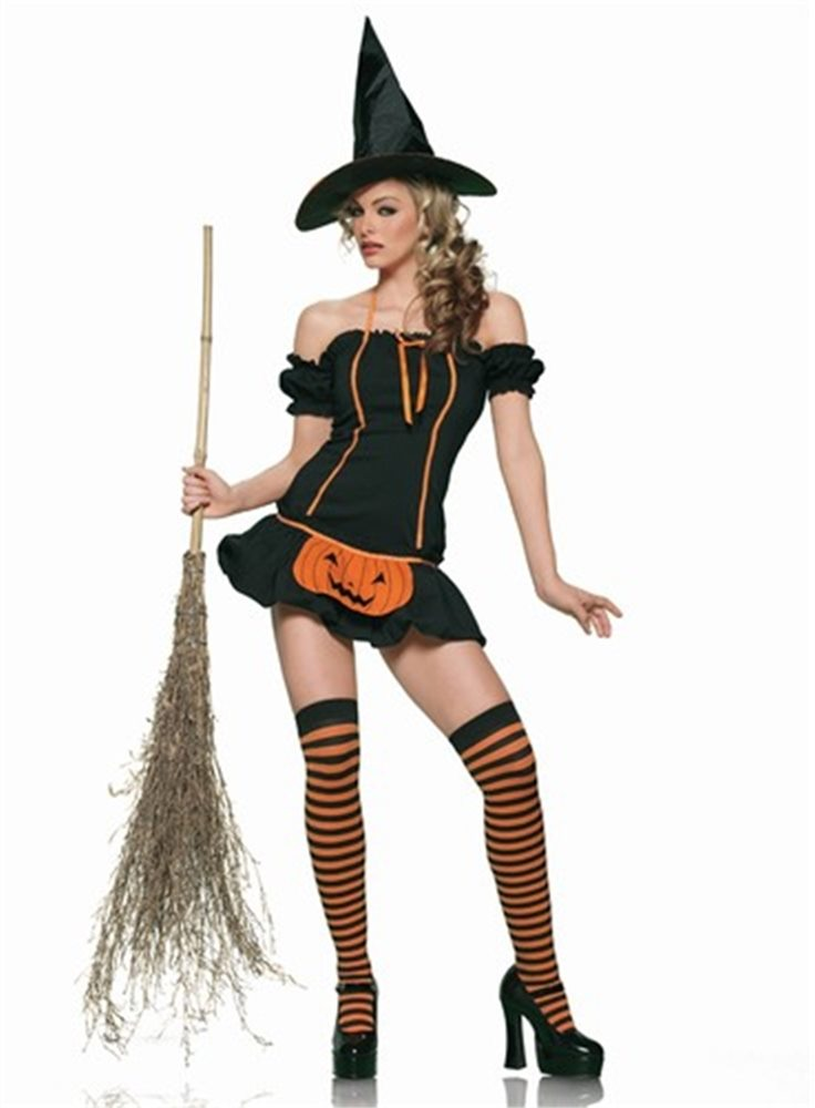 Picture of Pumpkin Witch 3pc Costume