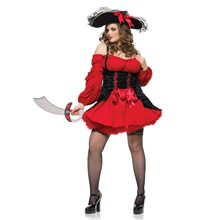 Picture of Vixen Pirate Wench Plus Size Adult Womens Costume