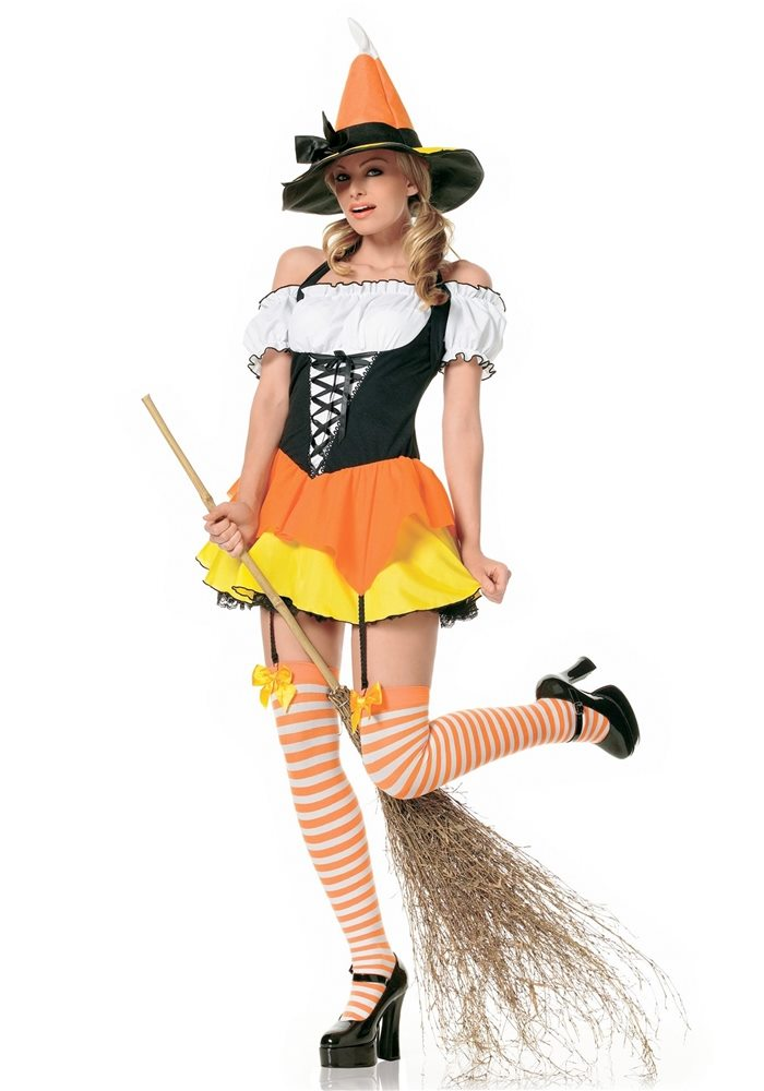 Picture of Kandy Korn Witch Adult Womens Costume