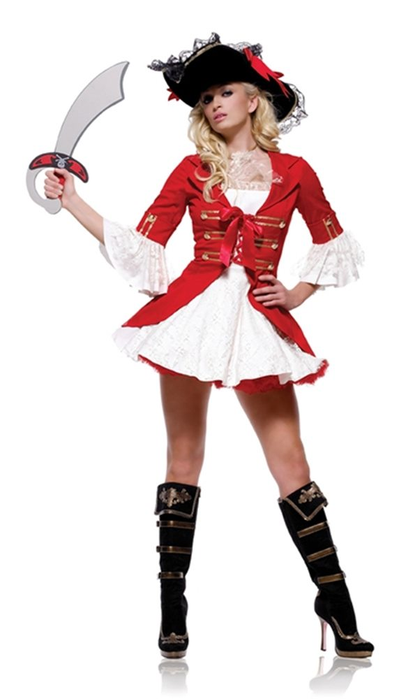 Picture of Captain Booty 2pc Adult Costume