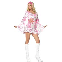 Picture of Retro Groove Print 2pc Adult Costume