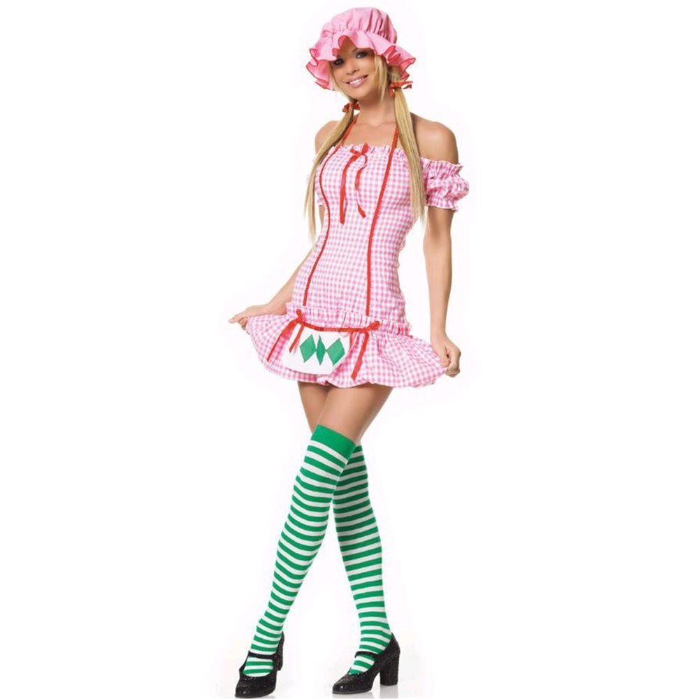 Picture of 3pc Strawberry Girl Adult Costume