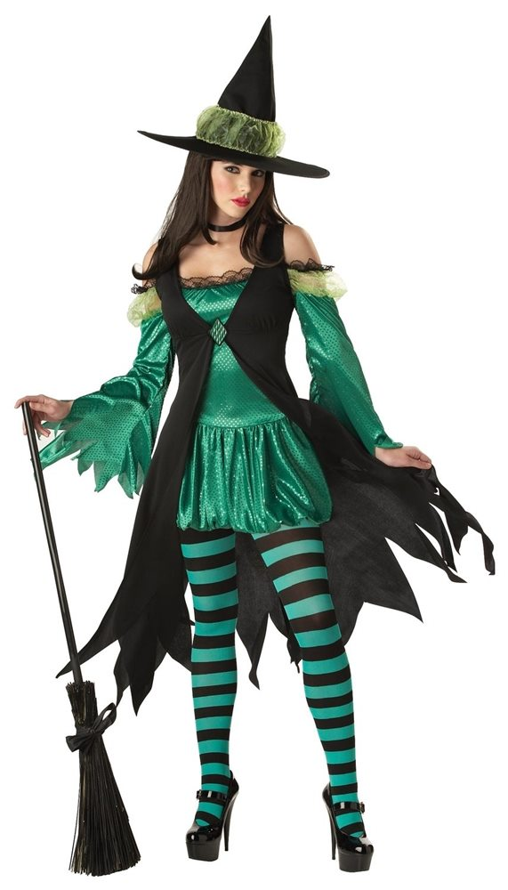 Picture of Emerald Witch Adult Womens Costume