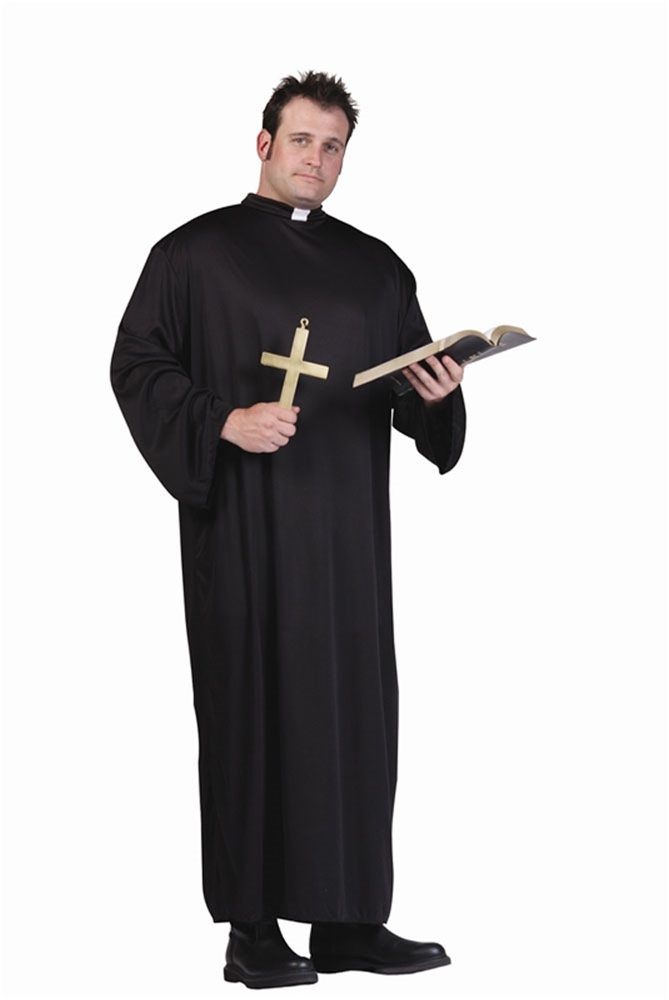 Picture of Priest Adult Mens Plus Size Costume