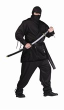 Picture of Ninja Adult Mens Plus Size Costume